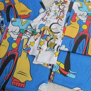 Disney store Mickey Donald tie Back Curtains